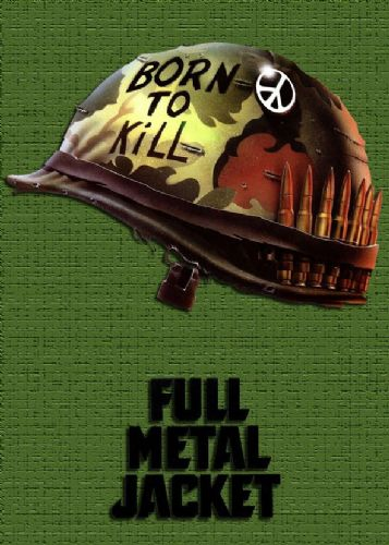 1980's Movie - FULL METAL JACKET - GREEN canvas print - self adhesive poster - photo print